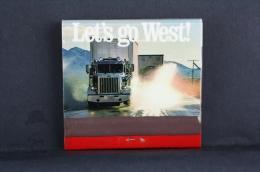 Advertising Matchbox/ Matches - Let´s Go West American Truks - Cajas De Cerillas (fósforos)