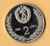 BULGARIA - 1988, 2 Leva, CuNi - Bulgaria