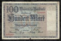 ALLEMAGNE .   BILLET DE 100  MARK .1922  . - [ 3] 1918-1933 : República De Weimar