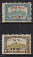 HONGRIE / 1918 POSTE AERIENNE # 1 ET 2 * / COTE 36.00 EUROS (ref T1857) - Unused Stamps