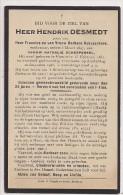 DP Hendrik DESMEDT - Debusschere - Scherpereel - Rumbeke - Oekene  1851 / 1926 - Religion & Esotérisme