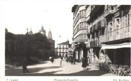 POSTAL    LUGO  -GALICIA  -  PLAZA DE ESPAÑA  -    ( EDIC. ARRIBAS ) - Lugo