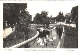 POSTAL   18.-   LUGO  -GALICIA  - PARQUE ROSALIA DE CASTRO  - ESTANQUE    ( EDIC. ARRIBAS ) - Lugo