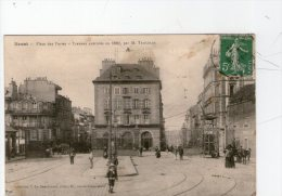 BREST.  PLACE DES PORTES.TRAVAUX EXECUTES EN 1889.....TBE - Brest