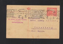 Czechoslovakia Stationery 1920 Pmk. Help Child Fund - Briefe U. Dokumente