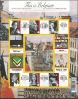 Blok 175 This Is Belgium. Boek En Literatuur. Ongetand Met Nr. Op Rugzijde Aan 20% - Imperforates