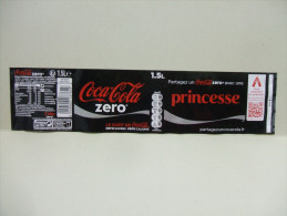"Etiquette Soda COCA COLA ZERO ""Princesse""  1,5 L - Autres"