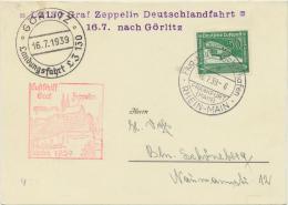 LZ 130 Graf Zeppelin Deutschlandfahrt 16.7.1939 Nach Görlitz - Deutschland