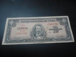 1949 CUBA RARE 10 PESOS ( P 79a )