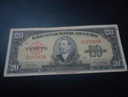 1949 CUBA RARE 20 PESOS ( P 80a )
