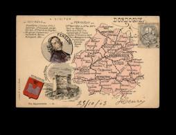 24 Carte Departement - Dordogne - France