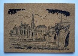 11 - Carte En Liège - LIMOUX - L'église SAINT-MARTIN Et Le Vieux Pont - Limoux