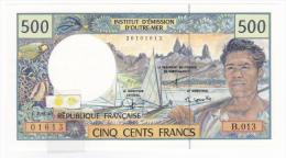 Polynésie Française - 500 FCFP - Alphabet B.013 / Signatures Severino-Redouin-Cornaill E - Neuf  / Jamais Circulé - Papeete (Polynésie Française 1914-1985)