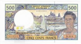 Polynésie Française / Tahiti - 500 FCFP - Alphabet D.014 / 2010 / Besse - Neuf  / Jamais Circulé - Papeete (French Polynesia 1914-1985)