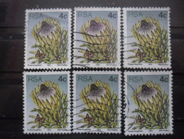 AFRIQUE DU SUD N°419 X 6 Oblitéré - Afrique Du Sud (1961-...)