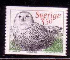 BIRDS - POLAR  OWL Hibou Hiboux Eule Eulen Owls -  SWEDEN SCHWEDEN SUEDE 1997  MNH MI 1985 NYCTEA SCANDICA - Eulenvögel