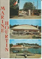 CPSM Centre De Formation Marine Nationale - Hourtin Gironde (33) Porte Principale, Plan D'eau (avion) Voyagé Timbre 1970 - Non Classés