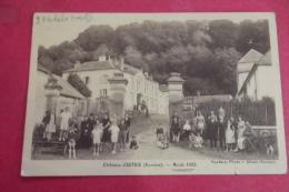 Cp Authie Chateau Aout 1935 Tres Animé - France