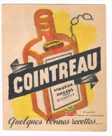 Petit Dépliant Publicitaire Ancien - COINTREAU, Quelques Bonnes Recettes - Alcools