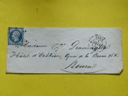 20 C EMPIRE NON DENTELE.  OBL. ETOILE. 1 FEVRIER 1855 - Marcophilie (Lettres)
