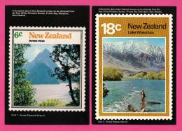 10 Cartes De New-Zeland En Timbres - Stamp - Postcard Série 1 à 10 - Nouvelle-Zélande