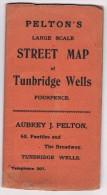 Pelton's Large Scale Street Map Of Tunbridge Wells - Maps