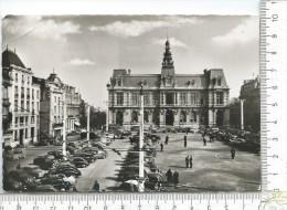 CPM, POITIERS: L' Hotel De Ville, La Place Leclerc, La Société Générale  ++ Flamme - Poitiers