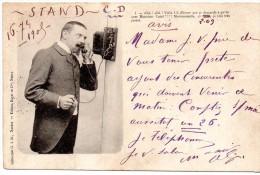 CPA Fantaisie Homme Telephonant Edition Royer Nancy - Fantaisies