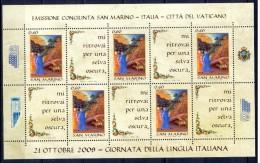 San Marino 2009 - Foglietto Giornata Della Lingua Italiana Nuovo MNH - Blocchi & Foglietti