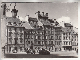 """POLSKA Pologne - Rynek Starego Miasta ( Place Du Vieux Marché ) Bon Plan Automobiles """" Berlines """" CPSM Photo GF 1961 - Pologne"""