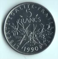 ** 5 FRANCS SEMEUSE  1990 FDC ** - France