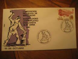 Baracaldo Vizcaya 1981 Exposicion Filatelica Cancel Cover Euzkadi Spain España - 1931-Oggi: 2. Rep. - ... Juan Carlos I