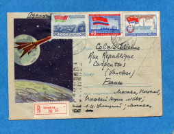 MARCOPHILIE-Lettre -REC Enveloppe Illustrée -espace-fusée Cad 1961-3 Stamps N°2307-8-9 Pour  Françe - 1923-1991 USSR