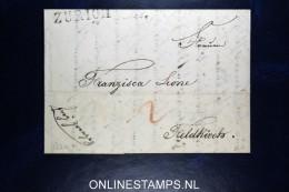 Switserland: Complete Letter From Zurich To Feldkirch  Austria 1829 - Zwitserland