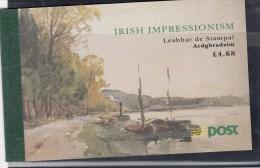 1993 IRISH IMPRESIONIST ART PAINTINGS PRESTIGE BOOKLET SG SB44 MINT - Libretti