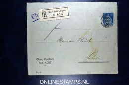 Switserland: Private Envelope Sitzende Helvetia Chur Postfach 4057, Registered To Schuls 1924  RRR - Postwaardestukken