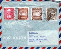 CHILE Flugpostbrief Mit Rotem Siegel 1933 - Luftpost