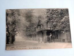Carte Postale Ancienne : CAZAUX : Grand Hotel Du Lac , Animé , Cheval Et Cavalier, TRES RARE - France