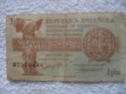 Billet De  1  Peseta De 1937  B75794446 - Espagne