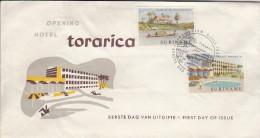 Surinam FDC Scott #306-#307 Opening Of Hotel Torarica, Stoelman´s Guesthouse - Surinam