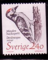 PROTECTED BIRDS - LESSER SPTTED WOOD-PECKER KLEINSPECHT PIC PIVERT -  SWEDEN  SCHWEDEN SUEDE 1989 MNH MI 1522 - Songbirds & Tree Dwellers