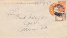 Mexico Ganzsache + Zusatzfrankierung Auf Brief 1925 - Mexiko