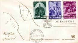 Vaticane FDC-Brief Weltflüchtlingsjahr 1960 - FDC