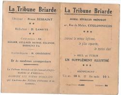 COULOMMIERS - LA TRIBUNE BRIARDE - 41 Rue De Melun - Calendrier De 1928 Au Verso - Non Classificati