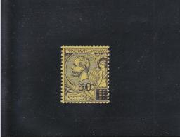 50 C S 1F NOIR/JAUNE NEUF * N° 53 YVERT ET TELLIER 1922 - Neufs
