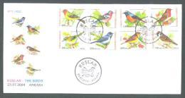 2004 TURKEY BIRDS FDC - Pájaros Cantores (Passeri)