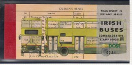 1993 IRISH BUSES TRANSPORTPRESTIGE BOOKLET SG SB47 MINT - Libretti