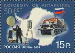 Russia 2009  50th Anniversary Of The Antarctic Treaty. - Unused Stamps