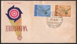 Fdc Italia 1965 Europa As Napoli - 6. 1946-.. Repubblica