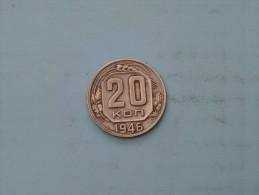 1946 - 20 Kopek / Y# 111 ( Uncleaned - Details Zie Foto´s ) ! - Russie